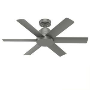 """Kennicott 44"""" Outdoor Matte Silver Ceiling Fan with Wall Control"""