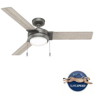 Mesquite-3 Blade Ceiling Fan with Light Kit and Pull Chain in Modern Style-52 Inches Wide by 12.34 Inches High