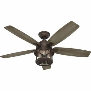 Coral Bay - 52 Inch 5 Blade Ceiling Fan with Light Kit and Handheld Remote