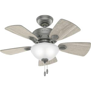 Watson - 34 Inch 5 Blade Ceiling Fan with Light Kit and Pull Chain