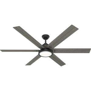 Warrant - 70 Inch 6 Blade Ceiling Fan with Light Kit and Wall Control