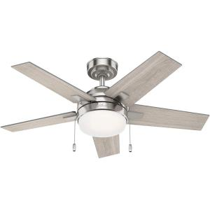 Bartlett - 44 Inch Ceiling Fan with Light Kit and Pull Chain