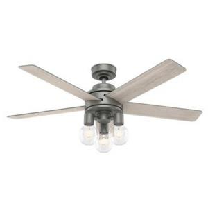 Hardwick-Ceiling Fan with Light Kit and Remote Control in Casual Style-52 Inches Wide by 20.72 Inches High