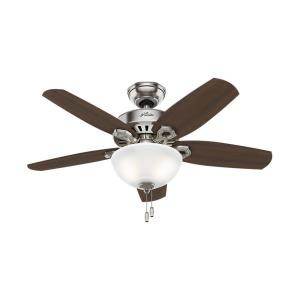 Builder Small Room-Ceiling Fan with Light Kit-42 Inches Wide by 12.27 Inches High