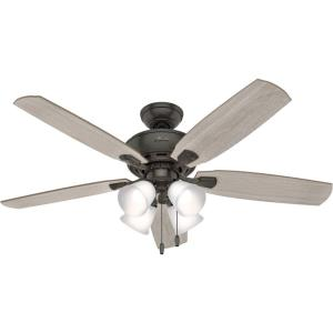 Amberlin-Ceiling Fan with LED Light and Pull Chain in Casual Style-52 Inches Wide by 18.41 Inches High
