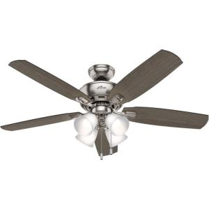 "Amberlin 52"" Ceiling Fan with LED Light and Pull Chain"