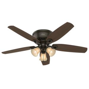 Builder Low Profile - 52 Inch Ceiling Fan with Light Kit