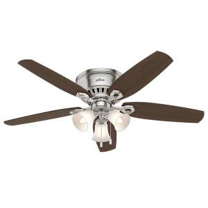 "Builder Low Profile - 52"" Ceiling Fan with Light Kit"