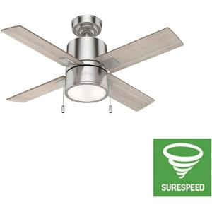 "Beck - 42"" Ceiling Fan with Light Kit and Pull Chain"