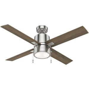Beck-Ceiling Fan with Light Kit and Pull Chain in Rustic Style-52 Inches Wide by 17.23 Inches High