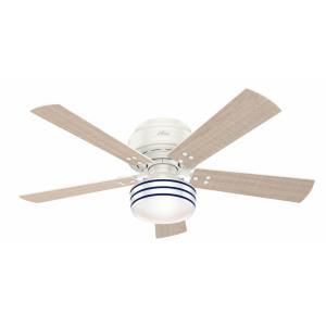 Cedar Key - 52 Inch Outdoor Low Profile Ceiling Fan with Light Kit