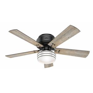 Cedar Key-Outdoor Low Profile Ceiling Fan with Light Kit-52 Inches Wide by 15.61 Inches High