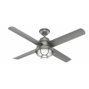 Searow-Outdoor Ceiling Fan with Light Kit in Caged Style-54 Inches Wide by 12.68 Inches High