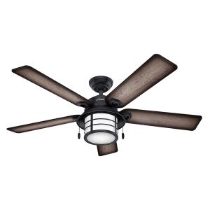 Key Biscayne - 54 Inch Outdoor Ceiling Fan with Light Kit
