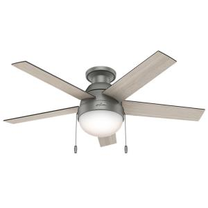 Anslee - 46 Inch Ceiling Fan with Light Kit