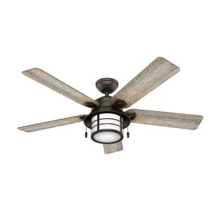 Key Biscayne-Ceiling Fan with Light Kit-54 Inches Wide by 16.46 Inches High