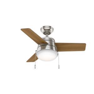 Aker - 36 Inch Ceiling Fan with Light Kit