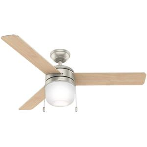 Acumen - 52 Inch Ceiling Fan with Light Kit and Pull Chain