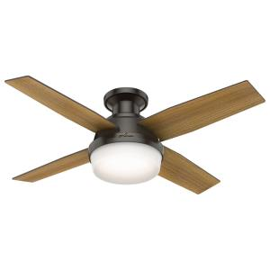 Dempsey Low Profile with Light - 44 Inch Ceiling Fan with Light Kit