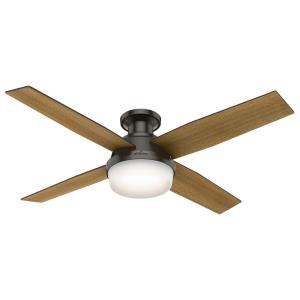 Dempsey Low Profile with Light - 52 Inch Ceiling Fan with Light Kit