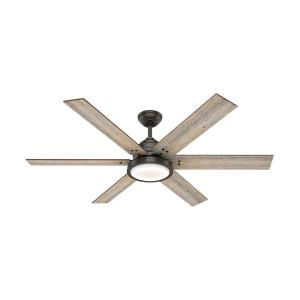 Warrant - 60 Inch Noble Bronze Ceiling Fan with Wall Control and LED Light Kit