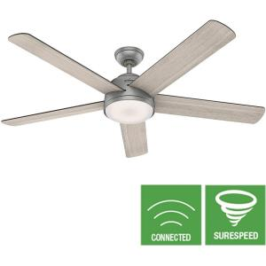 Romulus-Ceiling Fan with Light Kit and Remote Control in Casual Style-60 Inches Wide by 15.81 Inches High