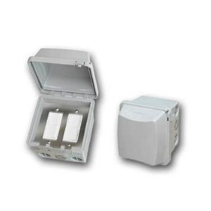 Accessory - Dual Duplex Switch Surface Mount  and  Gang Box 20 Amp Per Pole