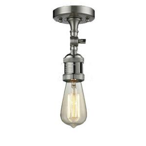 One Light Bare Semi-Flush Mount With Swivel