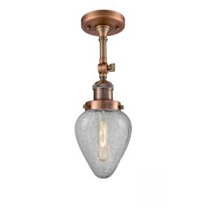 Geneseo-3.5W 1 LED Semi-Flush Mount in Industrial Style-6.5 Inches Wide by 15.5 Inches High