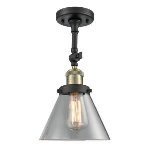 Large Cone - 14.5 Inch 1 Light Semi-Flush Mount