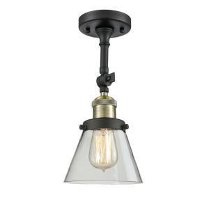 Small Cone - 13.5 Inch 1 Light Semi-Flush Mount