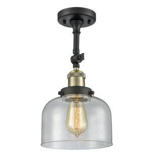 Large Bell - 13.88 Inch 1 Light Semi-Flush Mount
