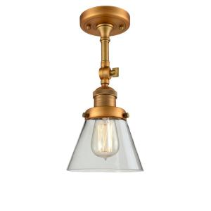 Small Cone - 13.5 Inch 1 Light Semi-Flush Mount
