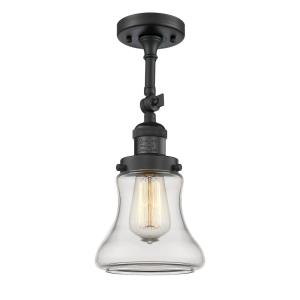 Bellmont-1 Light Semi-Flush Mount in Industrial Style-6.25 Inches Wide by 13.5 Inches High