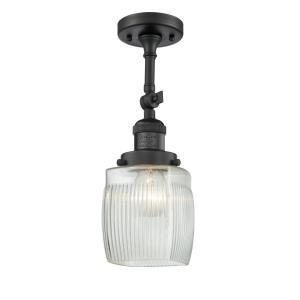 Colton - 14 Inch 1 Light Semi-Flush Mount