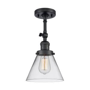 Large Cone - 14.5 Inch 1 Light Semi-Flush Mount