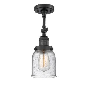 Small Bell-1 Light Semi-Flush Mount in Industrial Style-5 Inches Wide by 16 Inches High