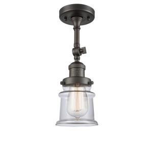 Small Canton-1 Light Semi-Flush Mount in Industrial Style-6 Inches Wide by 13.5 Inches High