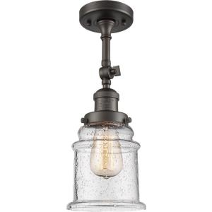 Canton-3.5W 1 LED Semi-Flush Mount in Industrial Style-6 Inches Wide by 13.5 Inches High