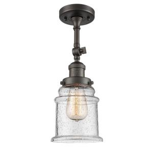 Canton-One Light Semi-Flush Mount-6.5 Inches Wide by 14 Inches High