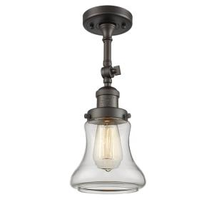 Bellmont-One Light Semi-Flush Mount-6.5 Inches Wide by 14 Inches High