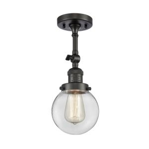 Beacon-3.5W 1 LED Semi-Flush Mount in Industrial Style-6 Inches Wide by 14.25 Inches High