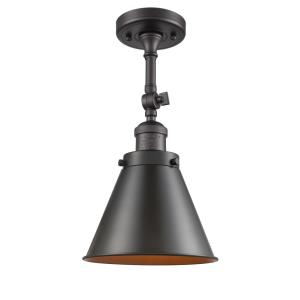 Appalachian-1 Light Semi-Flush Mount in Traditional Style-8 Inches Wide by 16 Inches High
