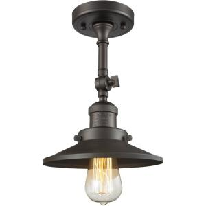 One Light Railroad Semi-Flush Mount-8 Inches Wide by 11 Inches High