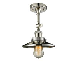 One Light Railroad Semi-Flush Mount