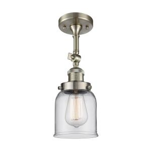 One Light Small Bell Semi-Flush Mount