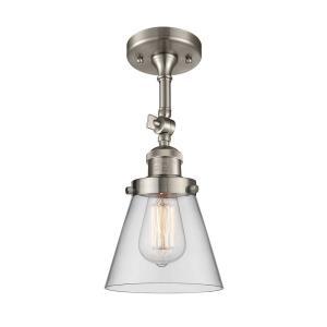 One Light Small Cone Semi-Flush Mount