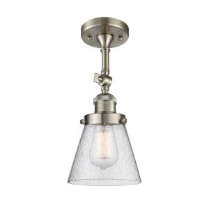 Small Bell - One Light Semi-Flush Mount