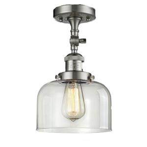 One Light Large Bell Semi-Flush Mount