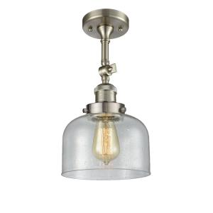 Large Cone-One Light Semi-Flush Mount-7 Inches Wide by 14 Inches High